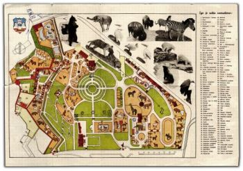 Serbia A Map Of The Belgrade Zoo 1939 Featured Documents